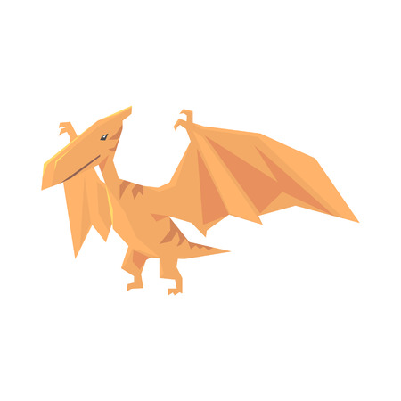 Pterosaurs dinosaur character, Jurassic period animal vector Illustration isolated on a white background