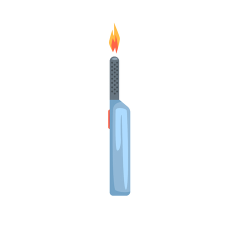 Gas lighter vector Illustration isolated on a white background Illusztráció