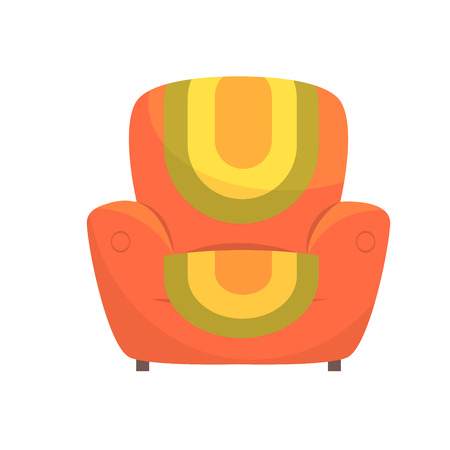 Colorful comfortable armchair vector Illustration isolated on a white background Illustration