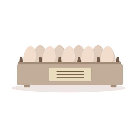 インキュベーターの卵トレイ、家禽の繁殖のベクトル イラスト