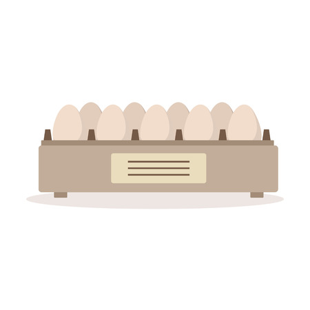 Incubator egg tray, poultry breeding vector Illustration