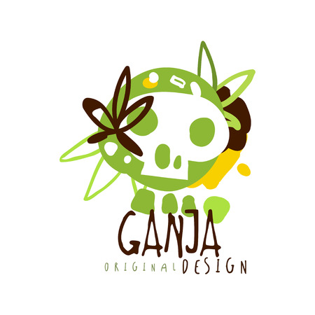 Ganja label original design, graphic template