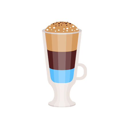 Coffee americano in a glass cup vector Illustration