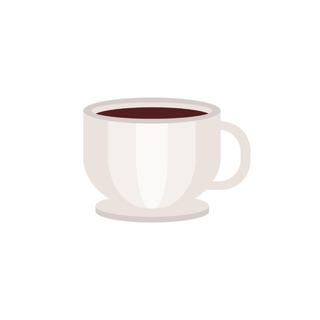 White cup of coffee vector Illustration