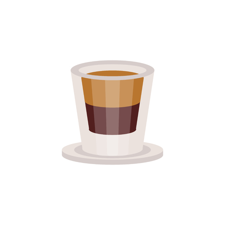Coffee espresso in a glass cup vector Illustration