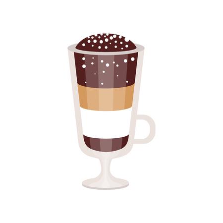 아일랜드 커피 머그잔 벡터 일러스트 레이션에서 커피 칵테일 일러스트