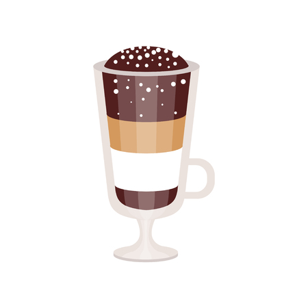 Coffee cocktail in irish coffee mug vector Illustration Ilustração