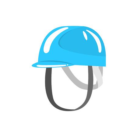 Blue helmet climbing equipment vector Illustration