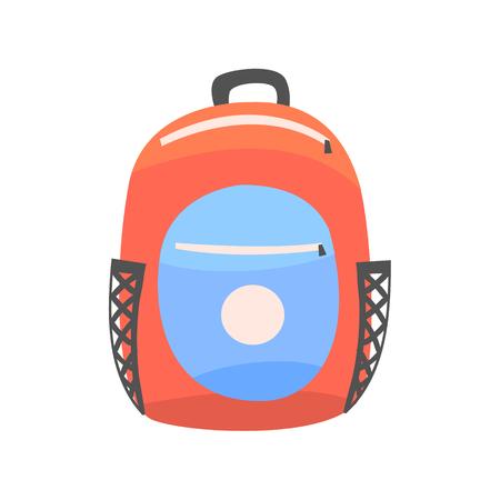 Kleurrijke rugzak, rugzak voor school of reis vector illustratie