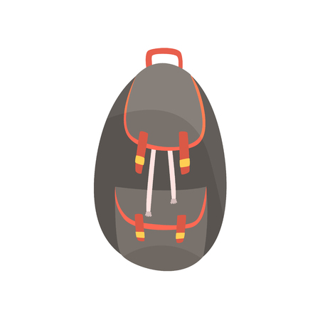 Backpack in dark colors vector Illustration