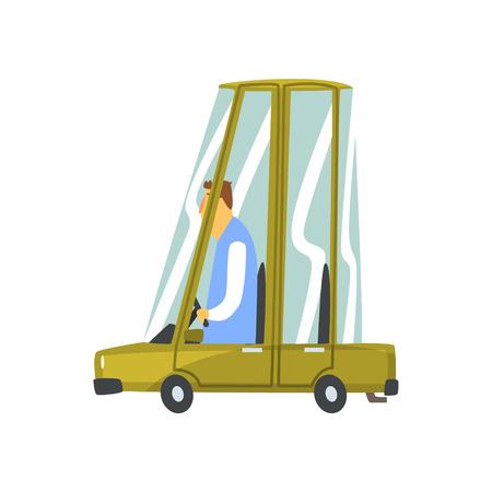 Cartoon car vehicle vector Illustration Illustration