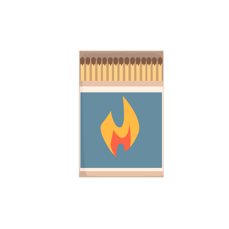 Open matchbox with matches vector Illustration Çizim