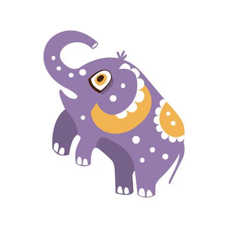 Cute cartoon elephant character standing on hind legs vector Illustration Ilustrace
