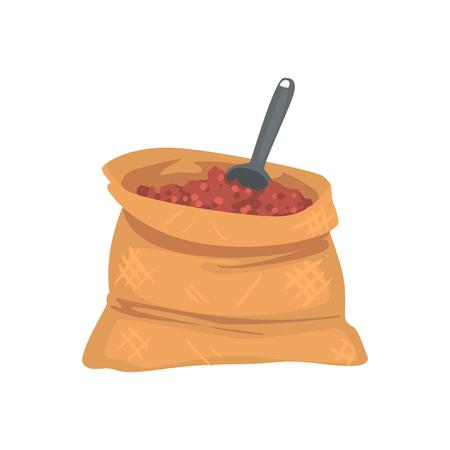 Fertilizer bag cartoon vector Illustration Illustration