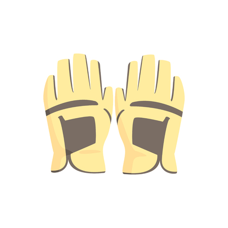 Golf gloves, sport equipment vector Illustration