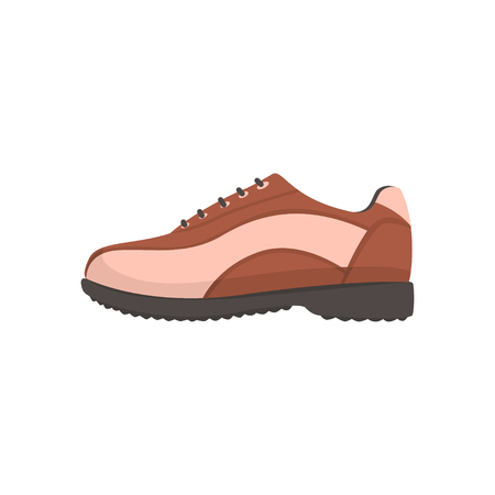 Golf shoe, golfer sport equipment cartoon vector Illustration Çizim