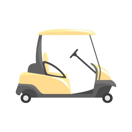 Golfauto, golf sport apparatuur vector illustratie