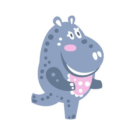 Caricatura de dibujos animados lindo hipopótamo carácter ilustración vectorial Foto de archivo - 82277340