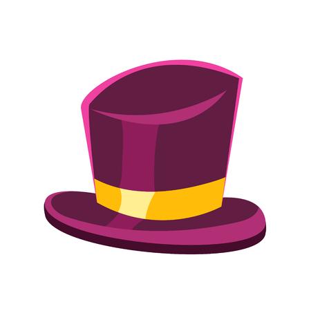 Purple gentleman hat vector Illustration Illustration