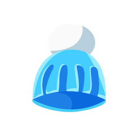 Blue knitted hat vector Illustration