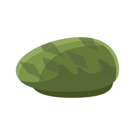 녹색 beret 벡터 일러스트 레이션