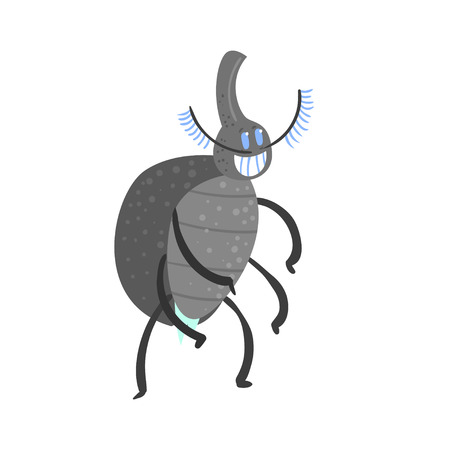 Cute cartoon insect character vector Illustration