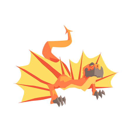 Dragon animal mythique et fantastique vector Illustration Banque d'images - 83102249