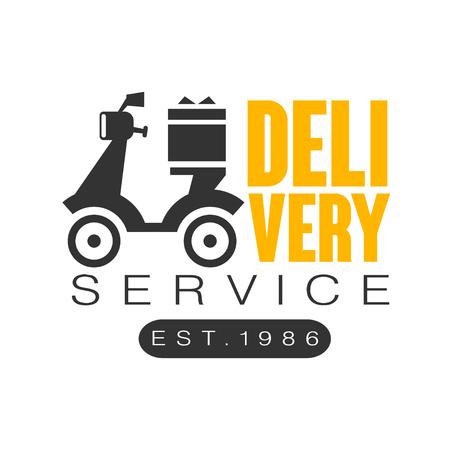 Delivery service est 1986 logo design template, vector Illustration on a white background
