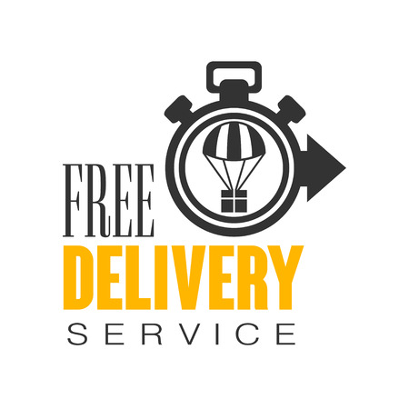 Free delivery service logo design template, vector Illustration on a white background