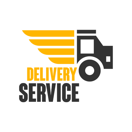 Delivery service logo design template, vector Illustration on a white background Vettoriali