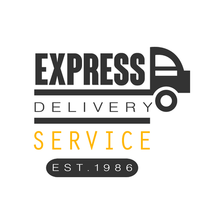 Express delivery service est 1986 logo design template, vector Illustration on a white background