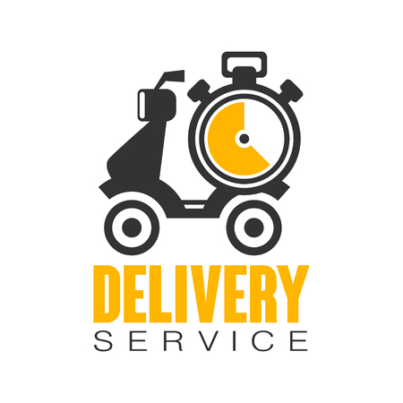 Delivery service logo design template, vector Illustration on a white background Illustration