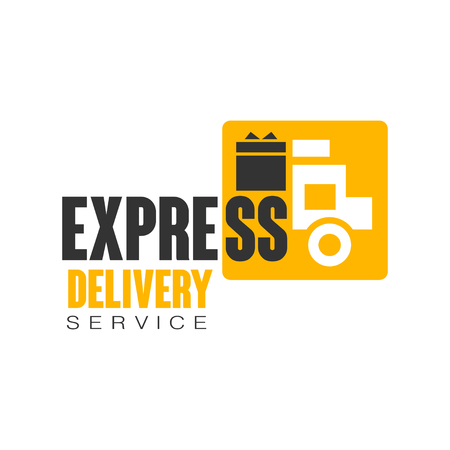 Express delivery service logo design template, vector Illustration on a white background