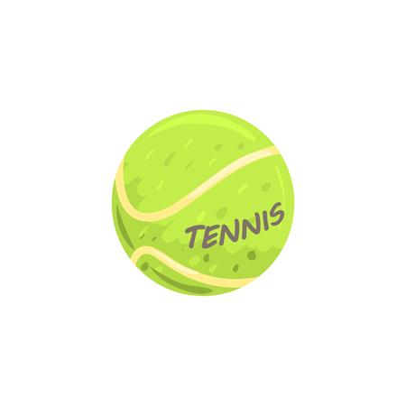 Tennis ball sport equipment cartoon vector Illustration Illustration