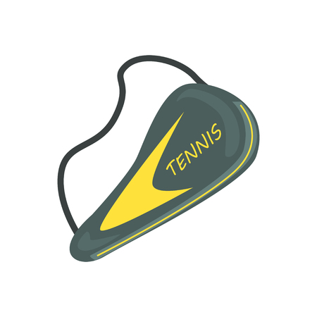 Tennis racket cover sport equipment cartoon vector Illustration Ilustrace