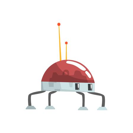 funny robot: Cute cartoon robot spider character vector Illustration