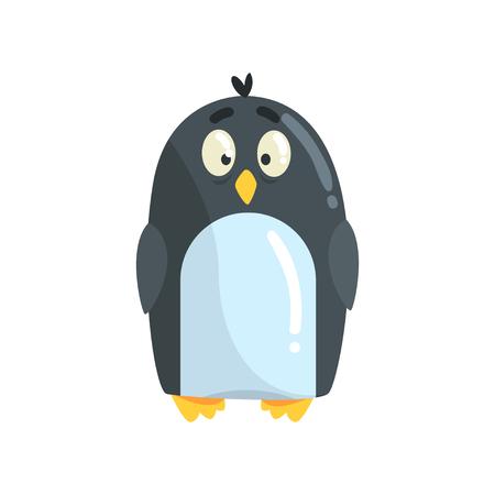 Ilustración de vector lindo pequeño divertido pingüino polluelo personaje
