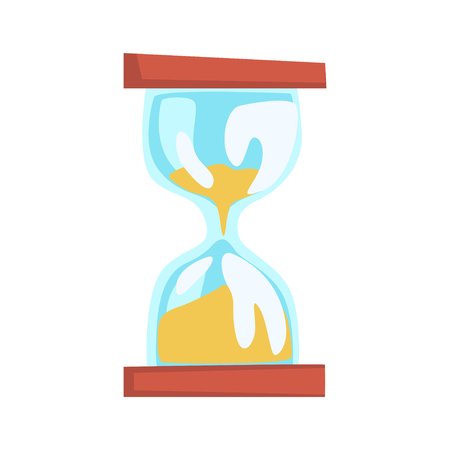 Hourglass cartoon vector Illustration on a white background Illustration