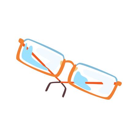 Glasses cartoon vector Illustration Çizim