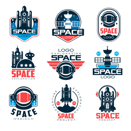 Exploration space   set, space project vector Illustrations on a white background Illustration