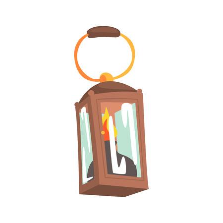 ガスランプ、鉱業機器漫画ベクトルイラスト