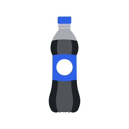 Refreshing drink in plastic bottle vector Illustration