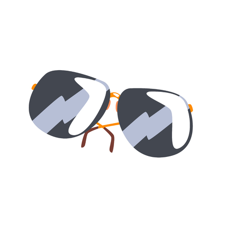 Black sunglasses cartoon vector Illustration