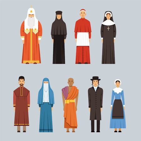 Religion people set Illustration