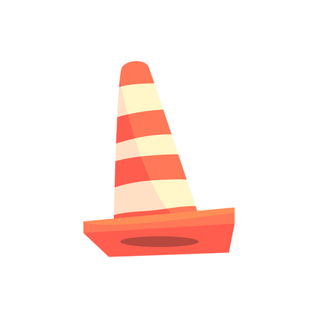 Traffic cone cartoon vector Illustration Illustration