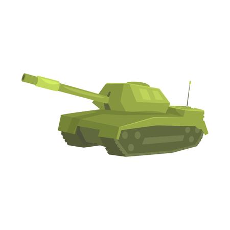 ミリタリー戦車漫画ベクトル図