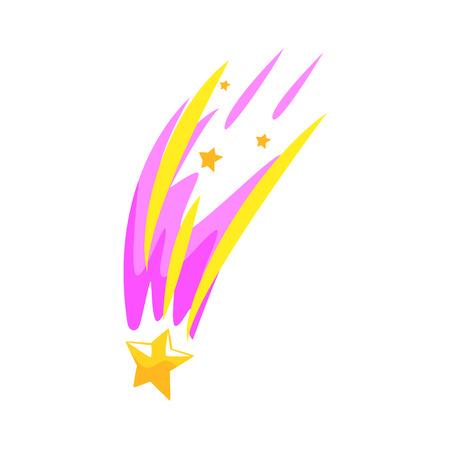 Star meteor falling cartoon vector Illustration Illustration