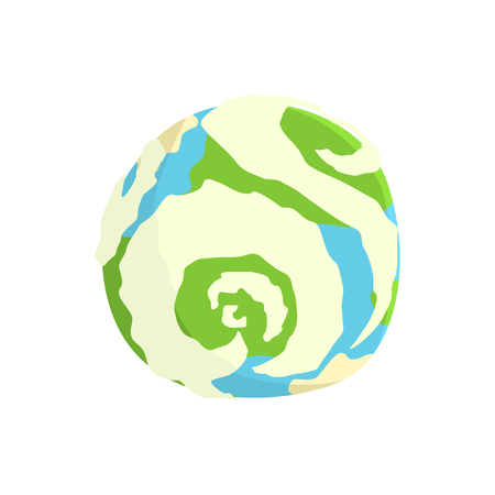 Earth planet cartoon vector Illustration