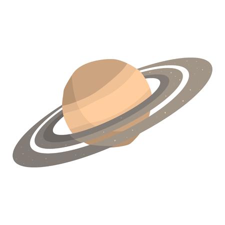 Saturn planet cartoon vector Illustration