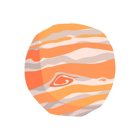 Jupiter planet cartoon vector Illustration